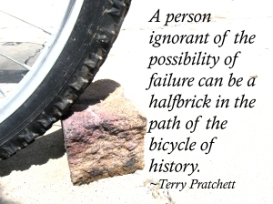 Terry Pratchett bike history