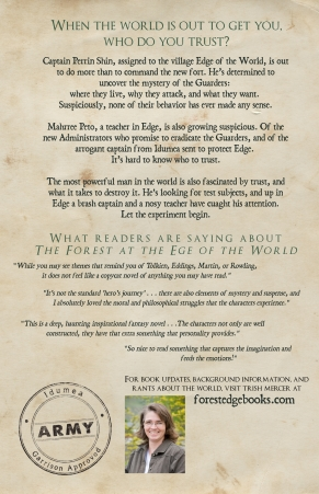 Book 1 BACK COVER COMPLETEForest at the Edge of the World