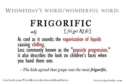 Wednesday word Frigorific