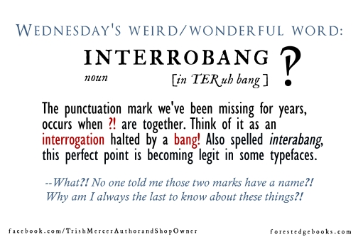 Wednesday word interrobang