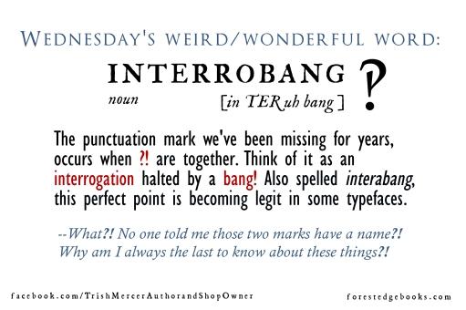 Wednesday word interrobang