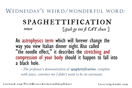 Wednesday word spaghettification