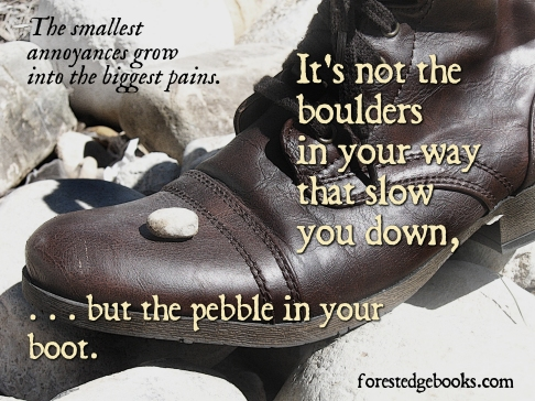 pebble and boot
