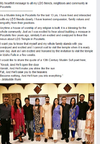 Muslims and Mormons